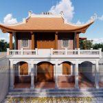 Phương án thiết kế, thi công nhà thờ 4 mái, 2 tầng của gia đình chú Riễm ở Nam Định