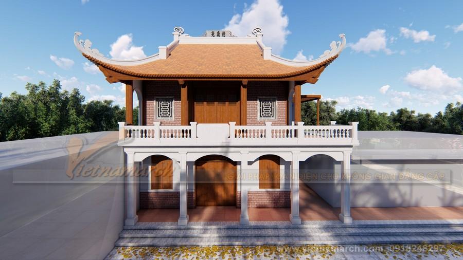 Mẫu nhà thờ họ 2 tầng 4 mái đẹp tại Nam Định