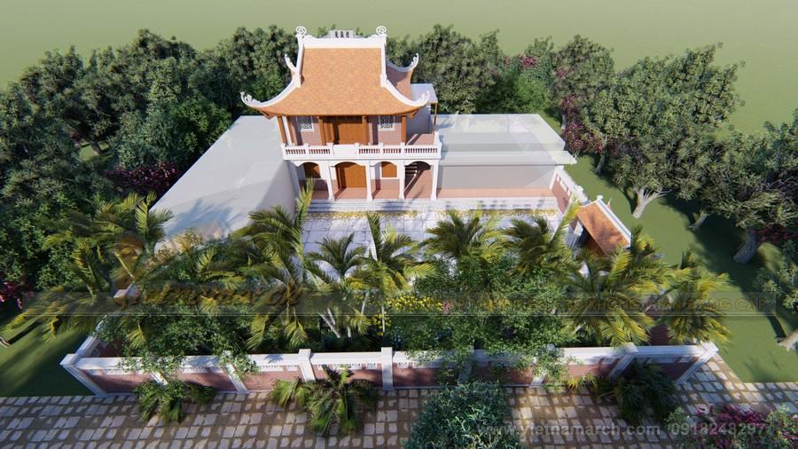 Phương án thiết kế, thi công nhà thờ họ 4 mái, 2 tầng của gia đình chú Riễm ở Nam Định