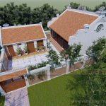 Phương án thiết kế, thi công nhà thờ họ kết hợp nhà ngang để ở của chú Tiến ở Nam Định