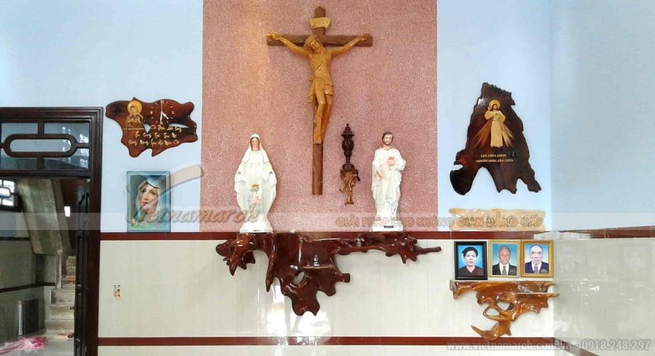 Chiều cao lắp bàn thờ treo tường