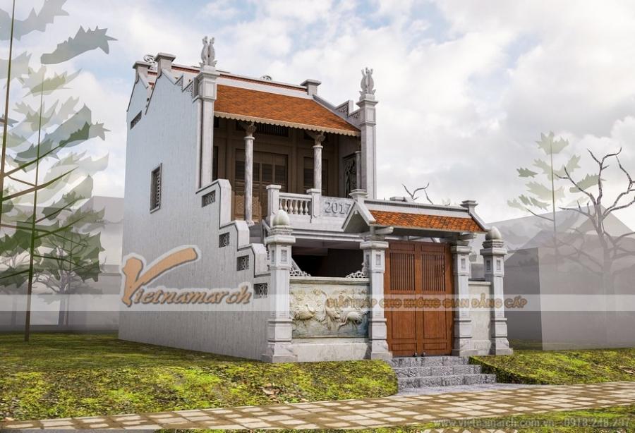 Thiết kế nhà thờ họ kết hợp nhà ở 2 tầng