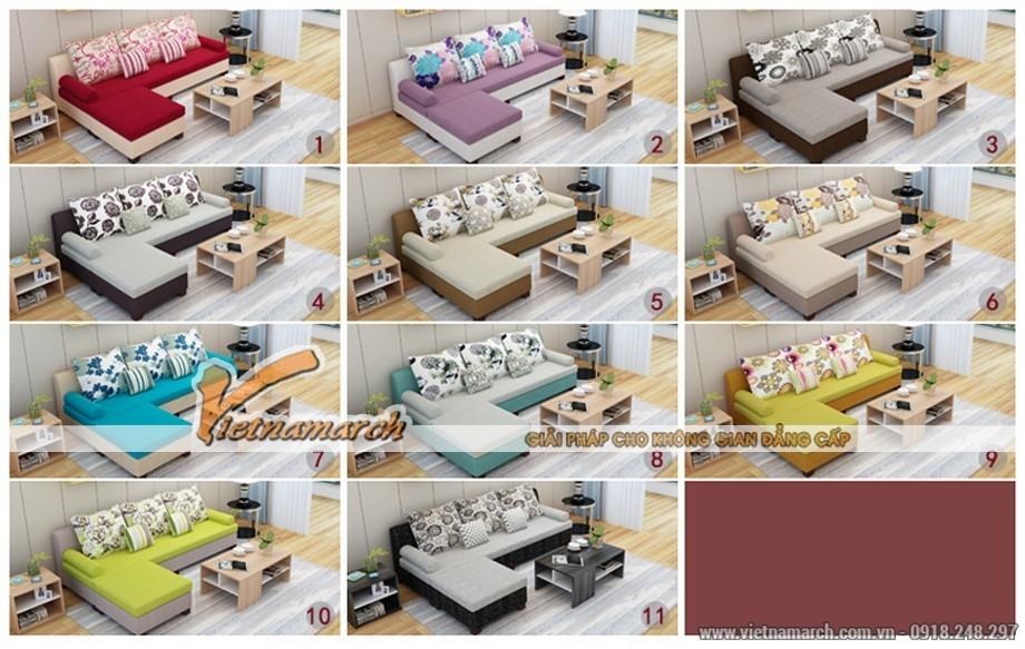 mẫu sofa chữ L cho phòng khách nhỏ hẹp