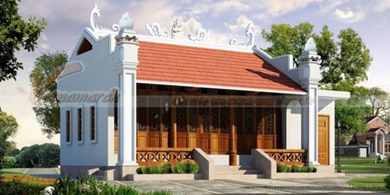 Hình ảnh mẫu nhà thờ họ miền bắc đẹp