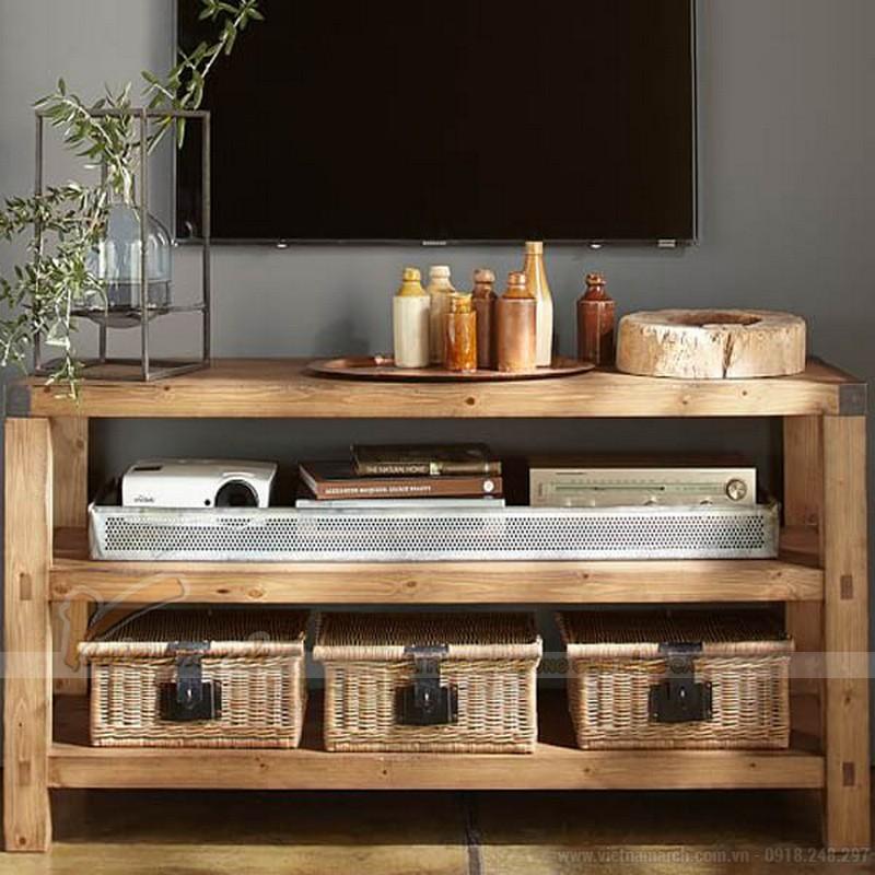 Mẫu kệ tivi đẹp bằng gỗ tự nhiên
