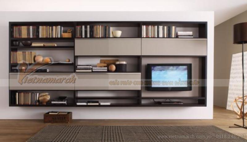 Kệ gỗ tivi phòng khách hiện đại
