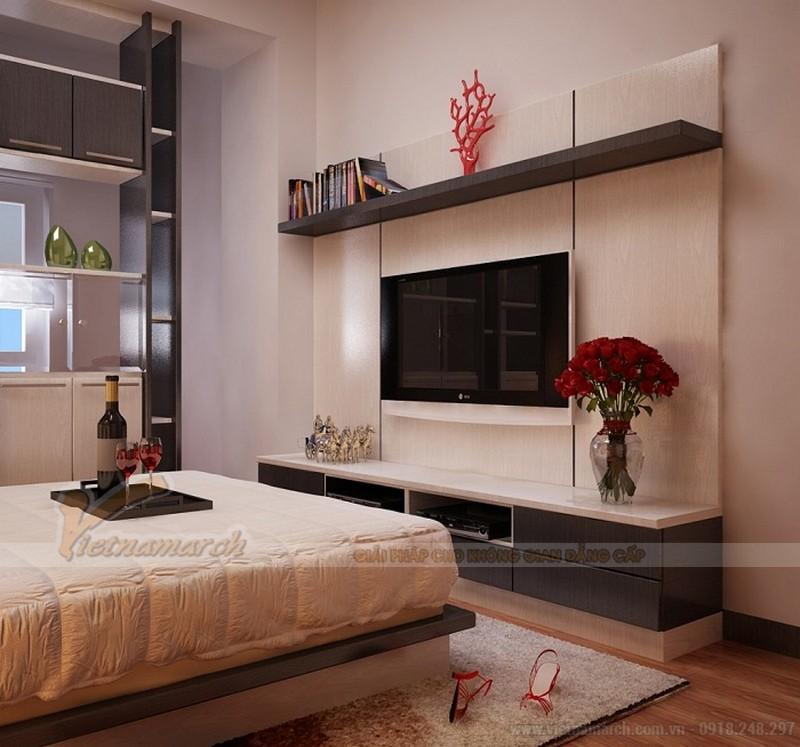 Mẫu kệ tivi phòng ngủ bằng gỗ