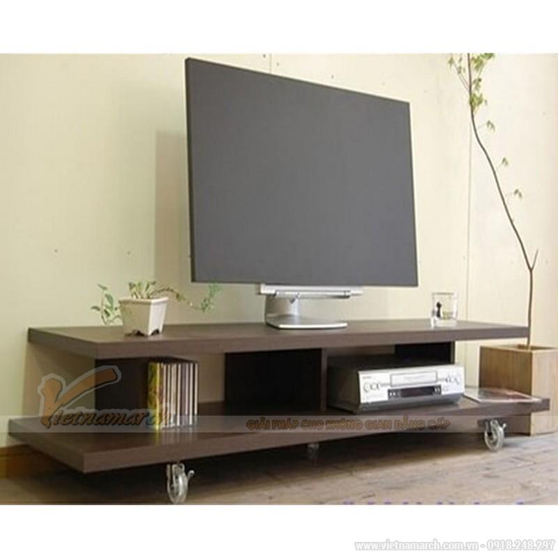 Mẫu kệ tivi gỗ đơn giản