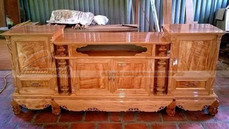 Mẫu kệ tivi gỗ hương đẹp