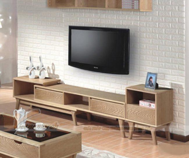 mẫu kệ tivi gỗ mới nhất, đẹp nhất