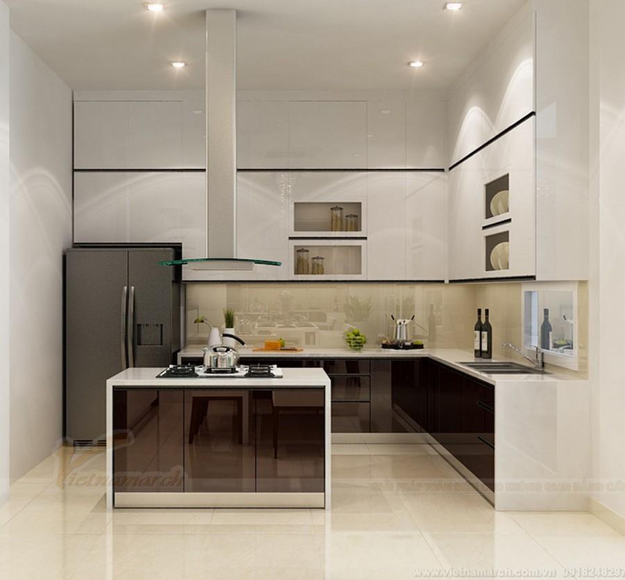 Tủ bếp mặt kính đẳng cấp, sang chảnh