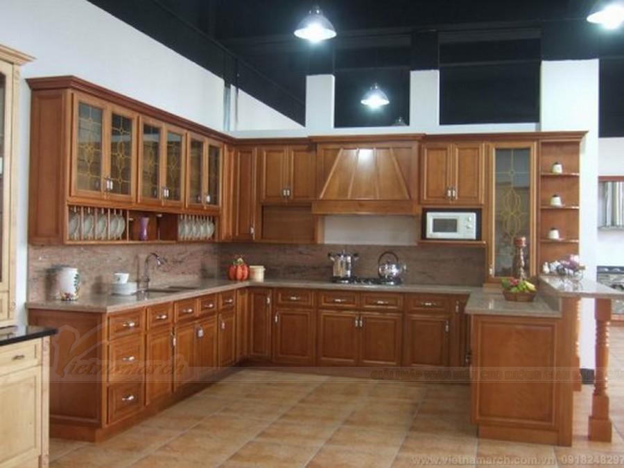 Kiểu tủ bếp theo phong cách cổ điển