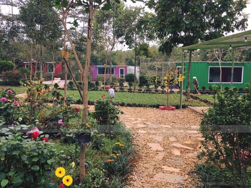 Nhà container homestay ngoại thành Hà Nội