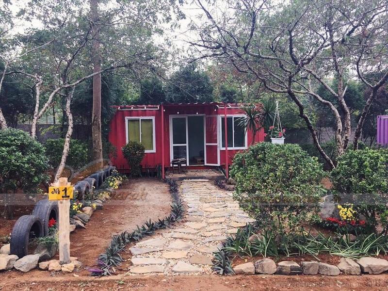 Nhà container homestay nhỏ xinh dành cho 4-5 người ở