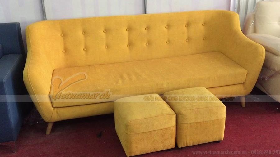 sofa văng chữ I đơn giản và tiện nghi