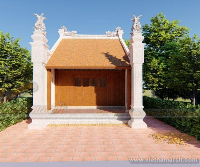 Phương án thiết kế nhà thờ họ diện tích nhỏ