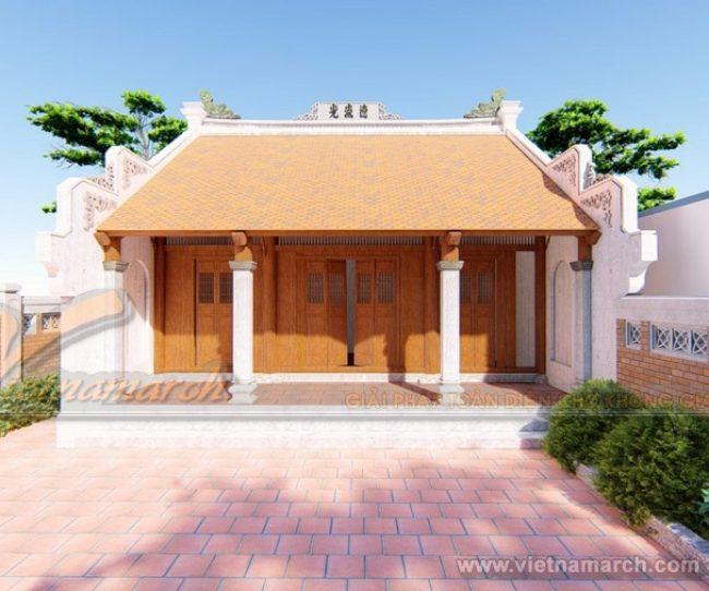 Phương án thiết kế nhà thờ họ 3 gian, 2 mái của gia đình anh Hùng ở Nghệ An