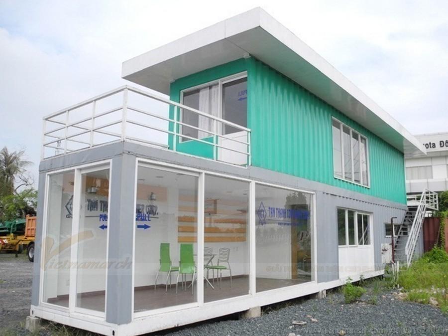 nhà container hai tầng