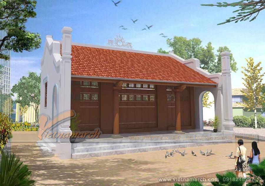 Bản vẽ thiết kế nhà thờ họ 3 gian