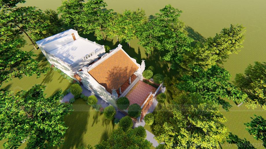 Nhà thờ 3 gian 2 mái của chú Ngọc