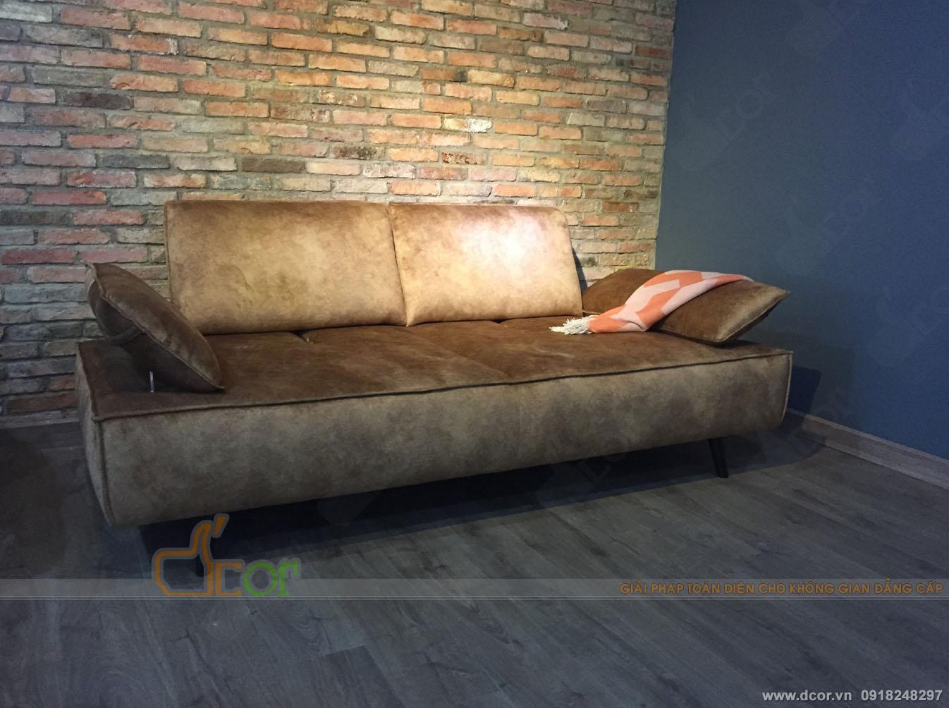 12 mẫu sofa văng nỉ giá rẻ Hà Nội hot nhất 2018-09
