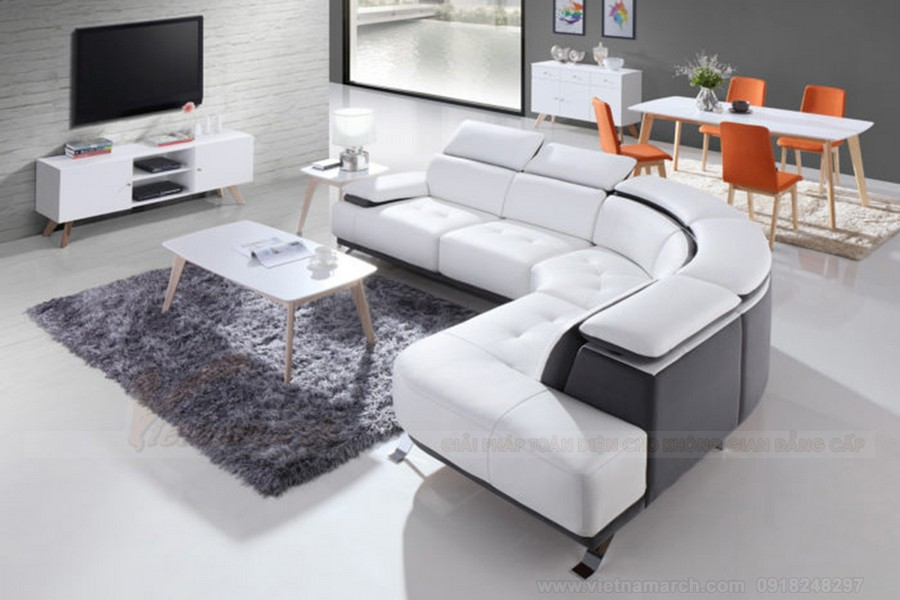 Phong cách hiện đại trẻ trung với những mẫu ghế sofa góc nhập khẩu tại Vietnamarch
