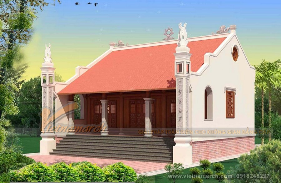 Tìm hiểu về bản vẽ nhà thờ họ 3 gian và các mẫu nhà thờ họ độc đáo