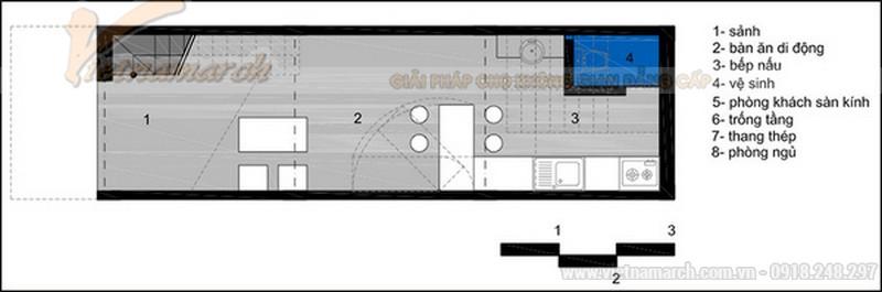 Bản thiết kế mẫu nhà ống 30m2 2 tầng chi phí xây dựng 300 triệu