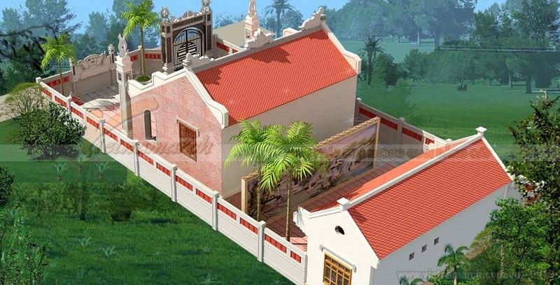Thiết kế nhà thờ họ kết hợp nhà ở cấp 4