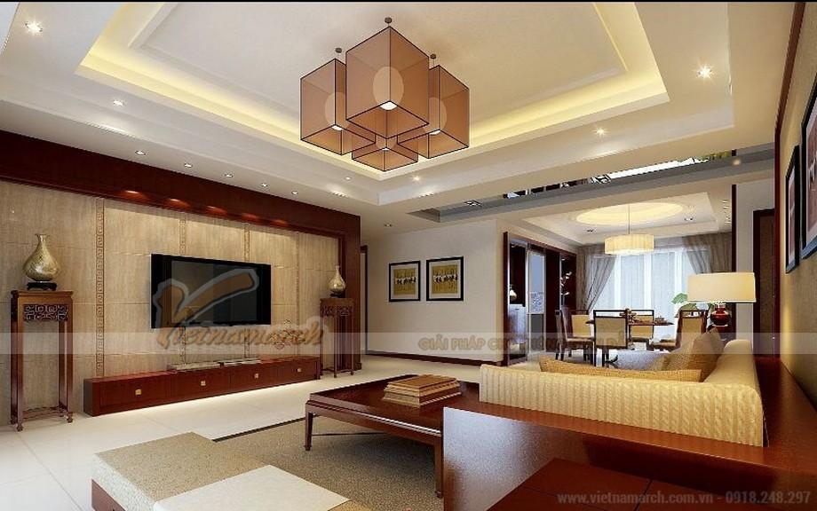 Hệ trần thạch cao phòng khách đẹp hiện đại