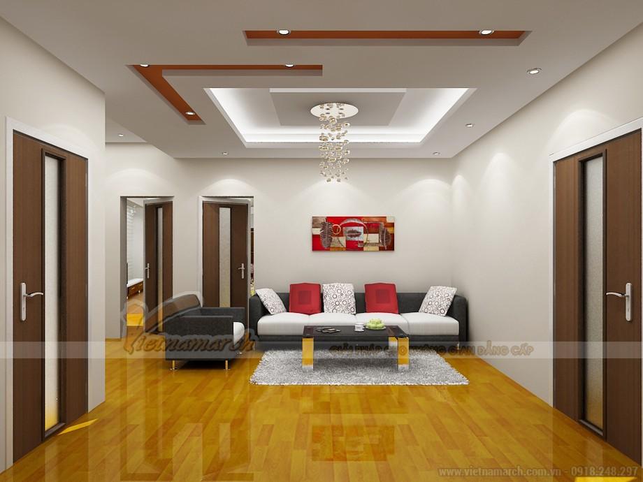Mẫu trần thạch cao phòng khách đẹp hiện đại