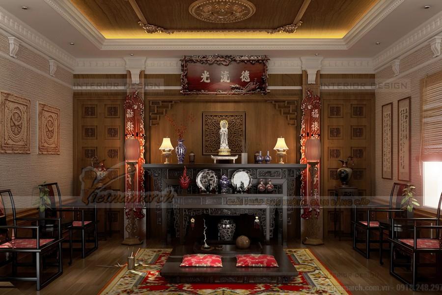 Điểm danh 25 mẫu bàn thờ đẹp dành cho biệt thự