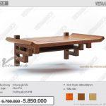 Mẫu bàn thờ treo tường bằng gỗ gõ chuẩn phong thủy nhiều tài lộc cho gia đình: BTT 02