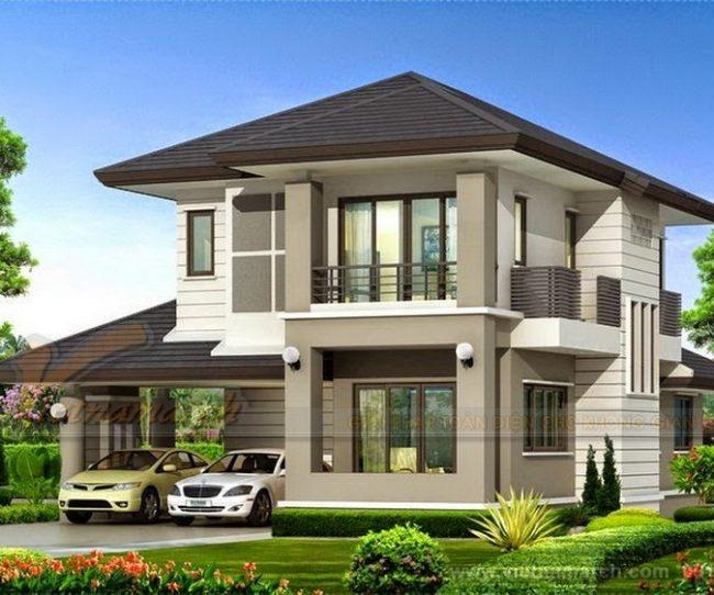 Những mẫu thiết kế nhà biệt thự 2 tầng sang trọng và hiện đại