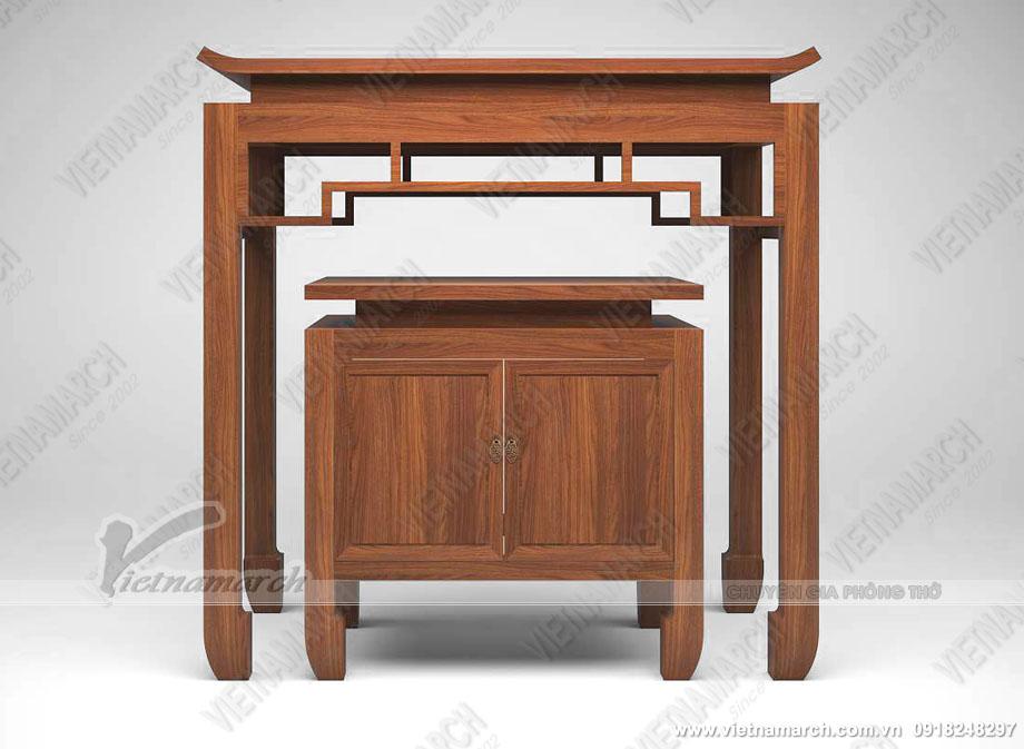 Mẫu bàn thờ gỗ Gõ Lào cho chung cư cao cấp
