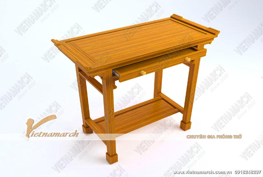 Trang nghiêm với mẫuBàn thờ đứng bền đẹp dành cho chung cư nhỏ: BTD09