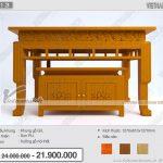 Bộ bàn thờ kèm tủ mẫu đẹp hiện đại họa tiết hoa sen tinh tế cho mọi gia đình: BTD13( kiểu đứng)