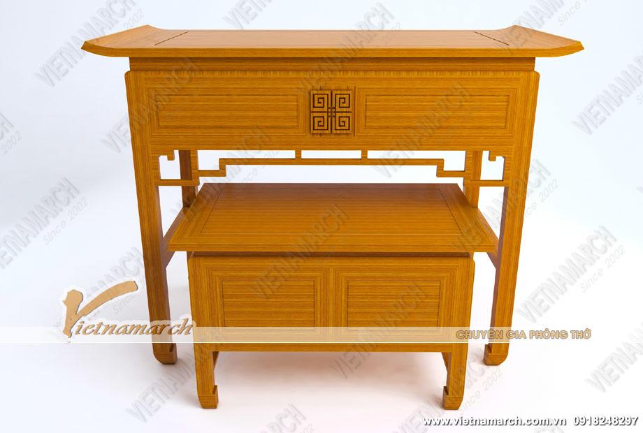Mẫu bàn thờ đứng kết hợp bàn thờ phụ hiện đại