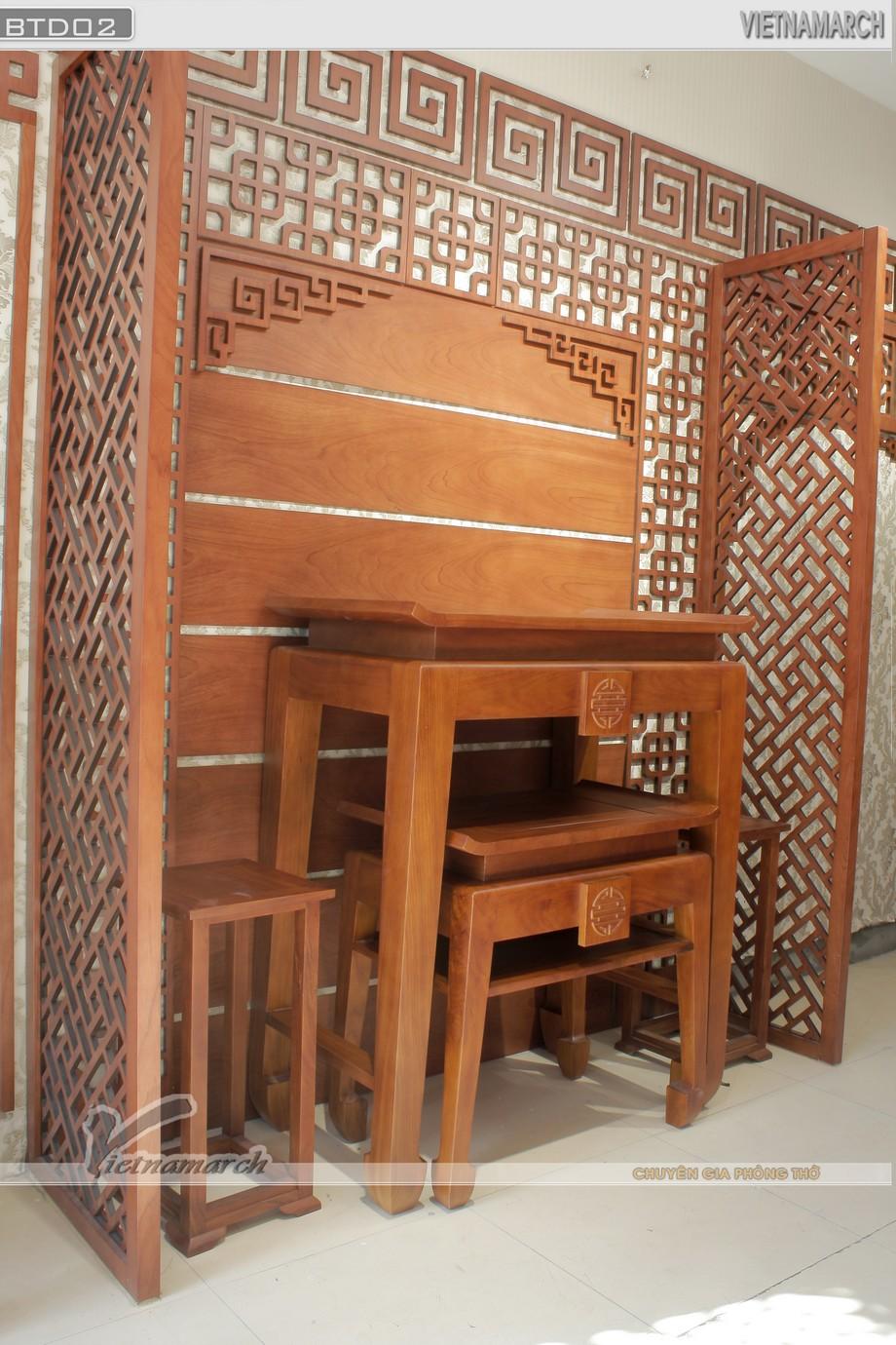 Lựa chọn kích thước bàn thờ đứng hợp Phòng thờ gia đình