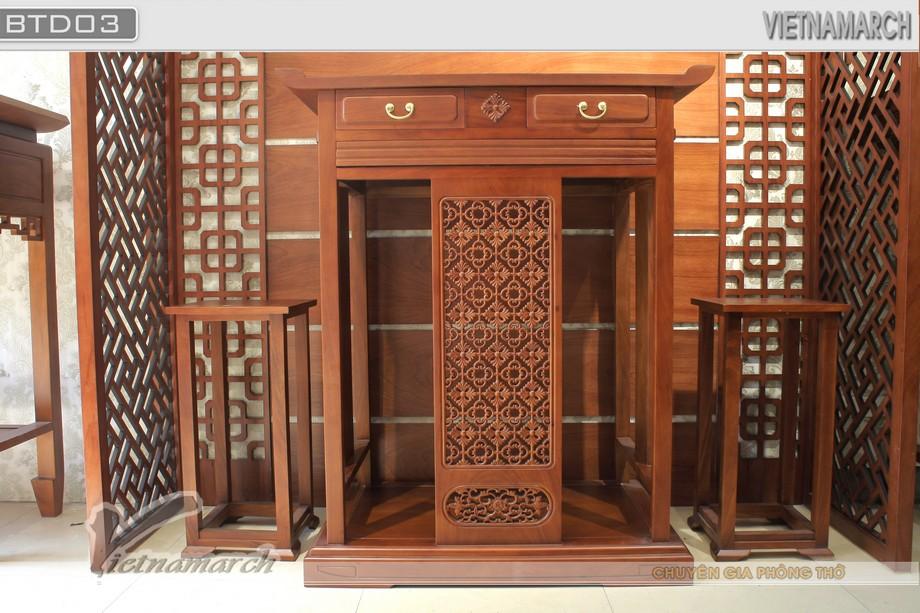Mẫu bàn thờ đứng đẹp hiện đại cho chung cư biệt thự