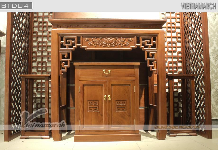 Tuyệt phẩm chạm khắc bàn thờ đứng- giao hòa giữa vẻ đẹp truyền thống và hiện đại hiếm có