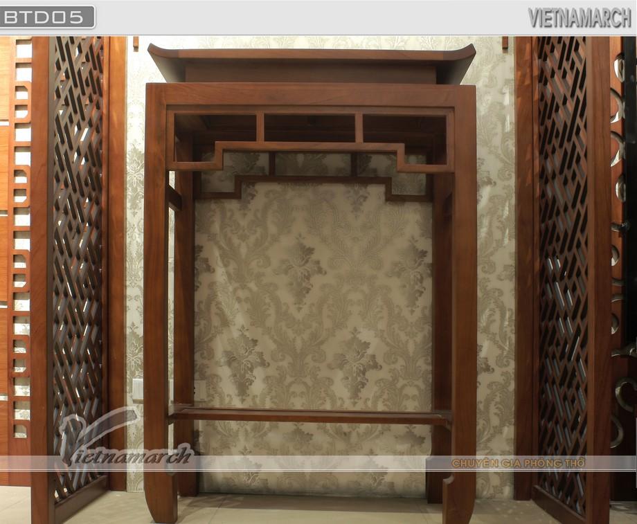 Mẫu bàn thờ đứng BTD 05: gọn, đẹp, hiện đại cho gia đình, chung cư diện tích nhỏ