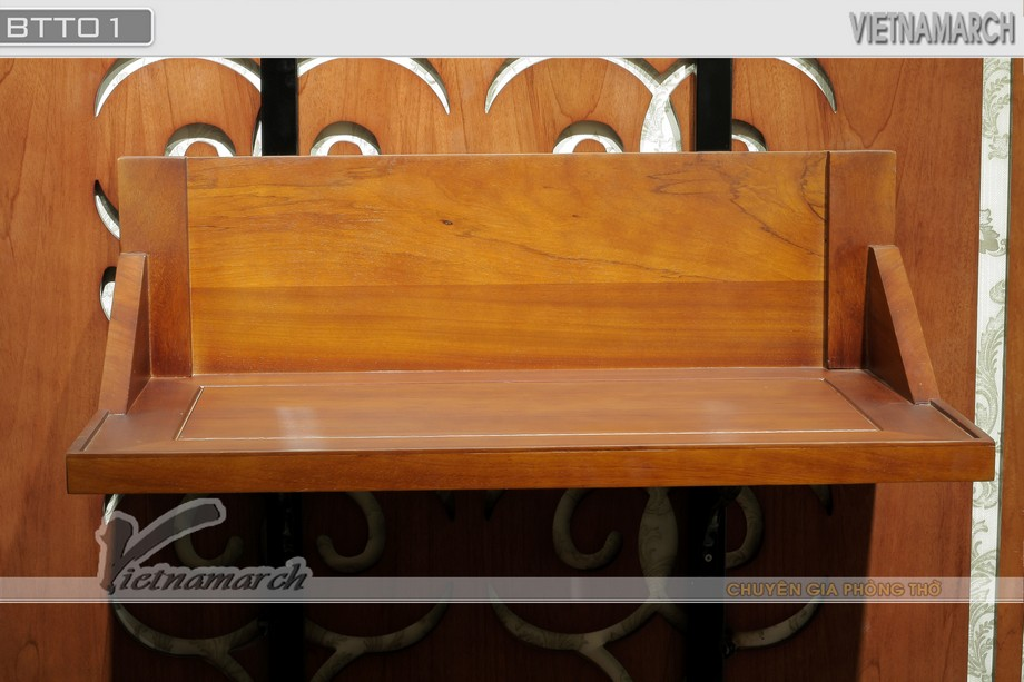 Bàn thờ nhỏ treo tường đẹp đơn giản thờ Thần Phật chuẩn theo thước lỗ ban: BTT 01