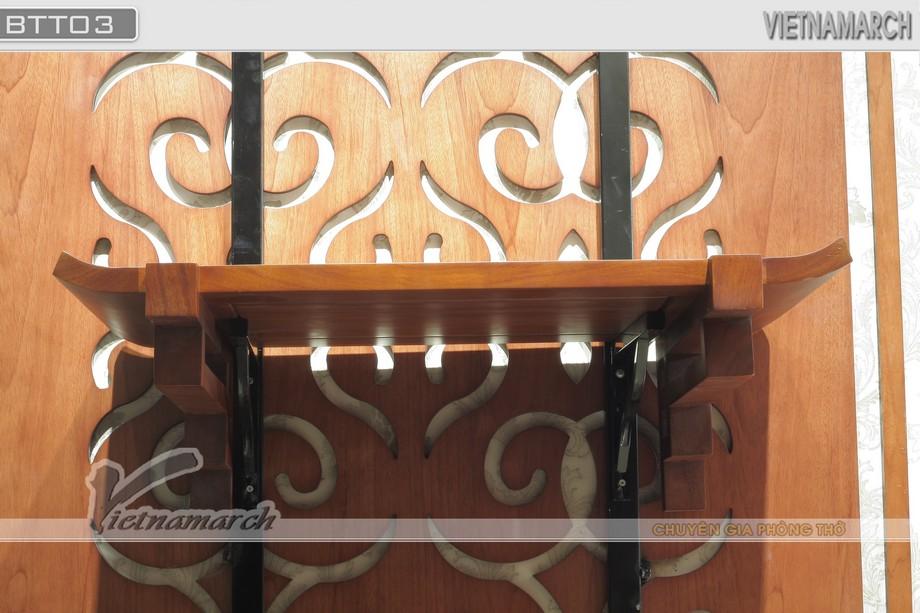 Mẫu BTT 03- Bàn thờ hiện đại treo tường sang trọng với hoa văn tinh tế cho phòng thờ nhỏ