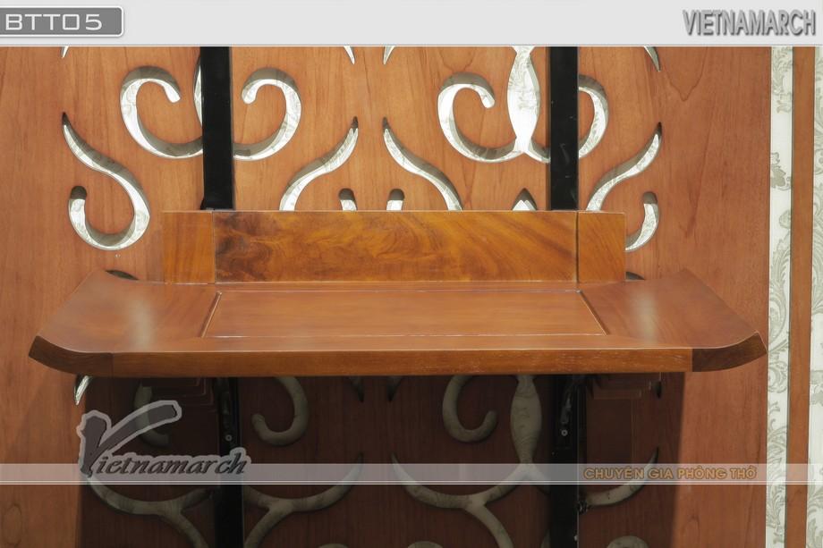 BTT 05- Mẫu bàn thờ treo tường thiết kế đơn giản, độc đáo phù hợp với nhiều không gian trong gia đình