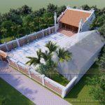 Phương án thiết kế thi công nhà thờ họ 2 mái của chú Hùng ở Nghệ An
