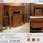 Tuyệt phẩm chạm khắc bàn thờ đứng- giao hòa giữa vẻ đẹp truyền thống và hiện đại hiếm có: BTD 04