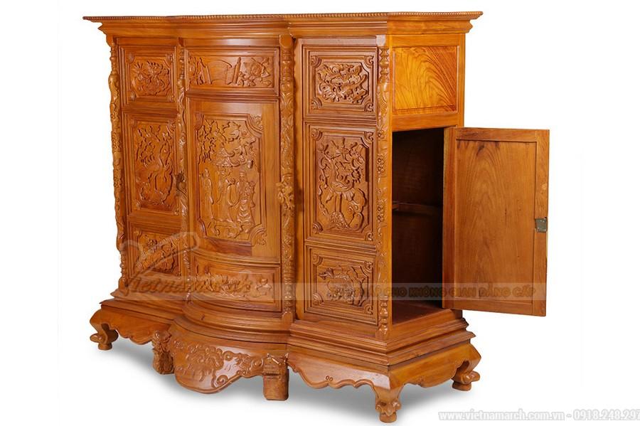 Bàn thờ bằng gỗ gõ đỏ có đắt không? Tư vấn giá bàn thờ gỗ gõ đỏ các loại