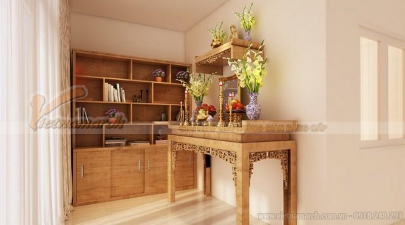 Mẫu bàn thờ Phật cho chung cư
