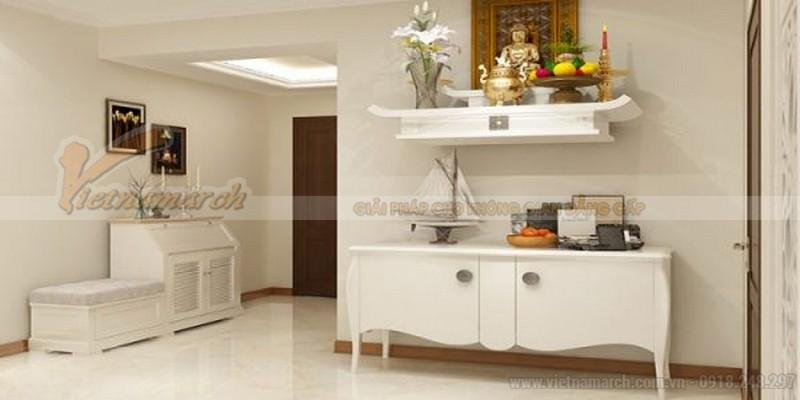 Mẫu bàn thờ treo tường theo phong cách hiện đại